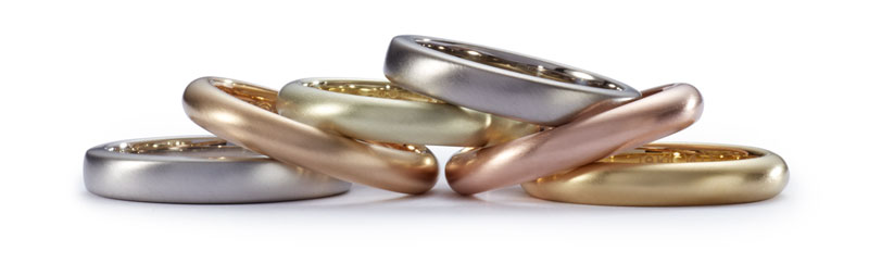 solid color gold ring collection