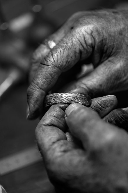 jewelry crafted by George's hands