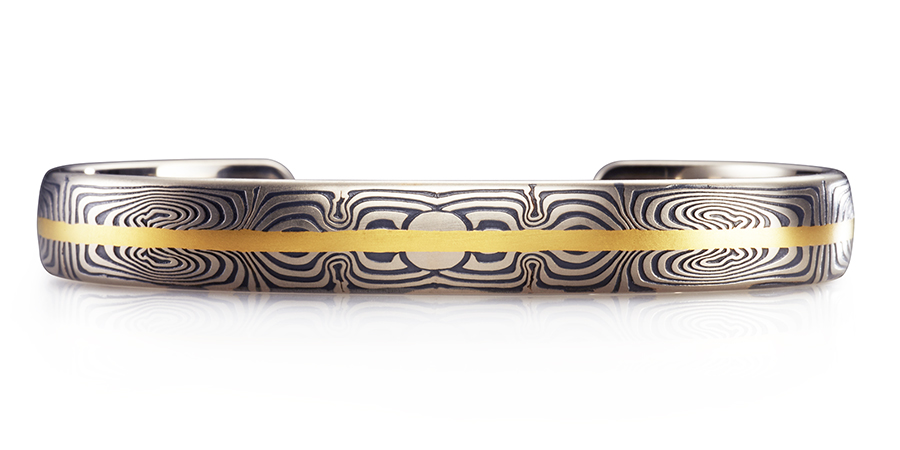 Symmetry cuff bracelet designed by George Sawyer in Minneapolis, MN - men's jewelry and women's jewelry