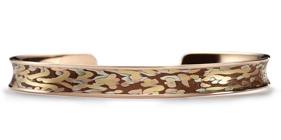 Contour cuff bracelet for women designed in Minneapolis by George Sawyer Design